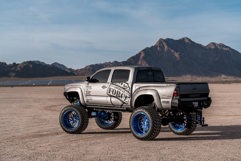 @T_harper96 @Vengeance_tacoma 2005-15 Toyota Tacoma featuring our New 2019 Concave 24x14 Lollipop Blue #GENESIS wrapped in 40x1550x24 @NittoTire-73.jpg