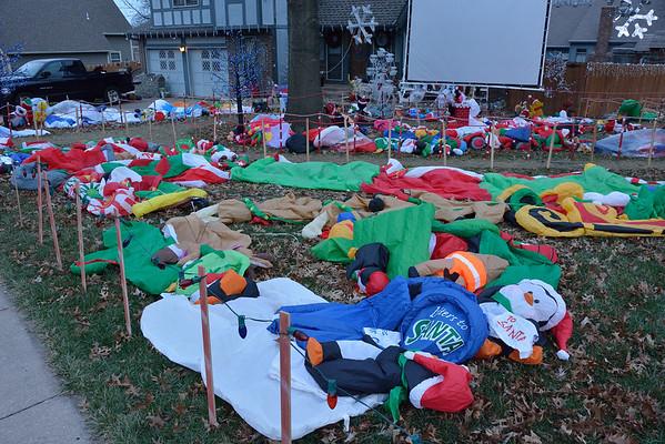 Christmas Yard Display De-Flated