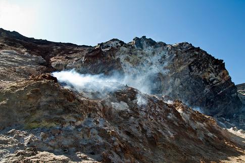 Steam Vent in the Cerro Negro Volcano Crater