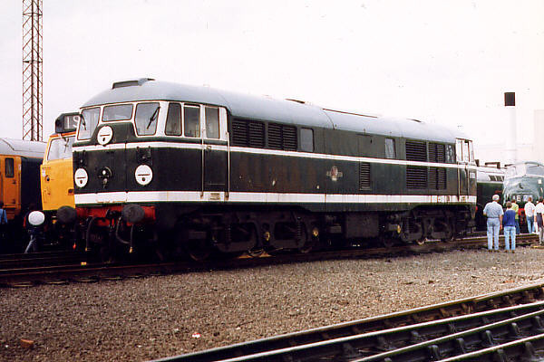 D5500 (31018) at Toton TMD on the 30th August 1998