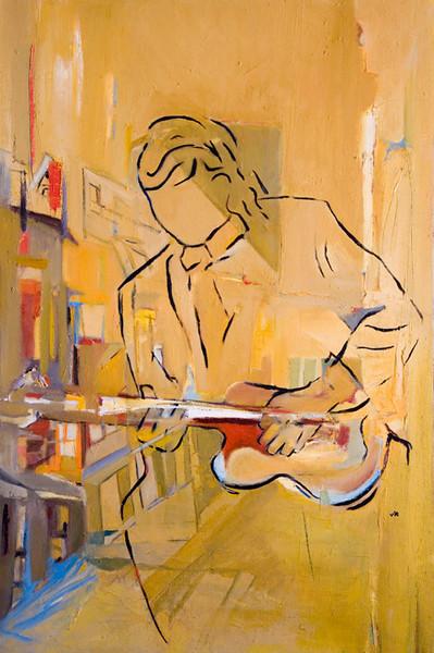 Le guitariste 24 X 36, Oil
