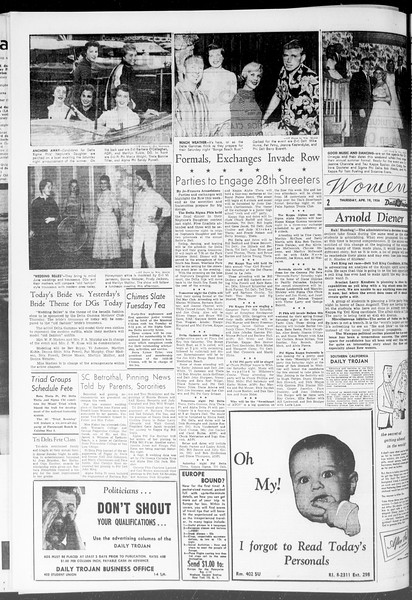 Daily Trojan, Vol. 47, No. 116, April 19, 1956