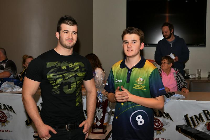 Ricky Emey (2014 champion) with Matt Curwood (2014 runner-up)
