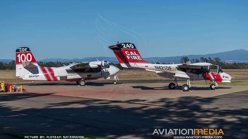 CAL Fire / North American OV-10A Bronco & Marsh Aviation S-2F3AT Turbo Tracker / N421DF & N441DF