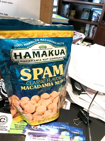 Brilliant. Whoever thought about combining SPAM with macadamia nuts was brilliant.