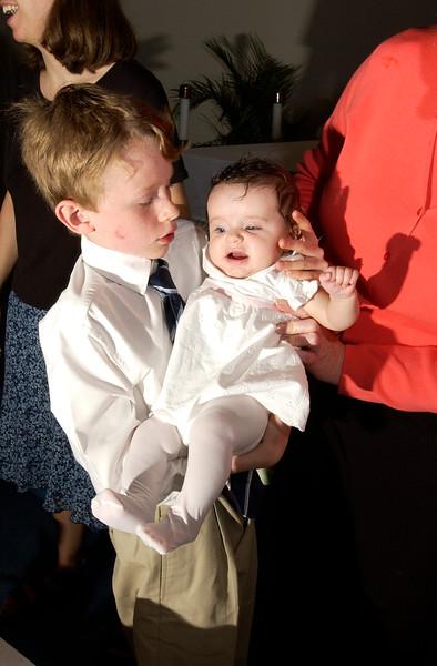 5/16/04  Russ Dillingham photos Marueen and Derek Asadorian and babies baptism