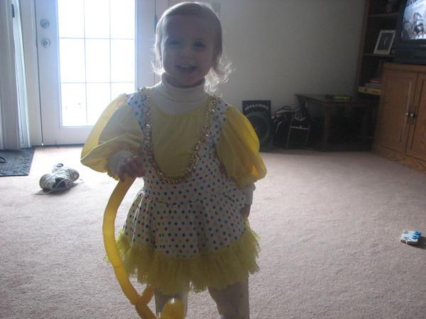 Holly Lula as a clown.
