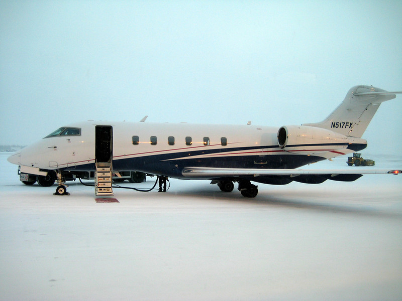 Our two pilots stayed in Fairbanks the time we were there (Saturday afternoon, 2/14, through Tuesday morning, 2/17), since it didn't make sense for them to take the jet anywhere else in the meantime.
