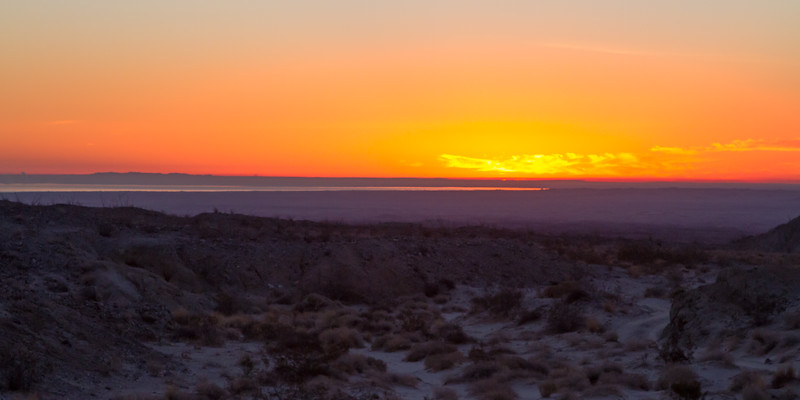 Sunrise from our campsite at Arrayo Salado