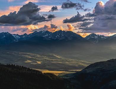 Gore Range Sunset from Ute Pass, Colorado
