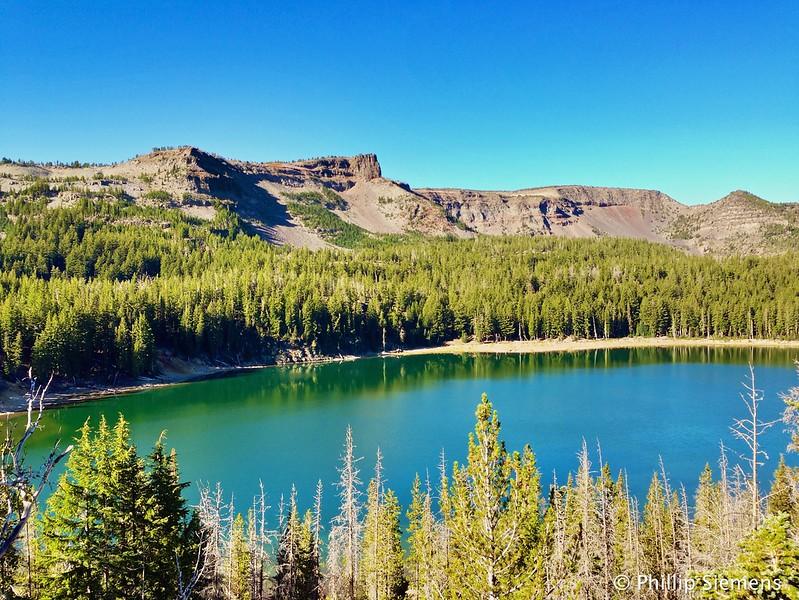 Three Creeks Lake, heading up to the ridge.
