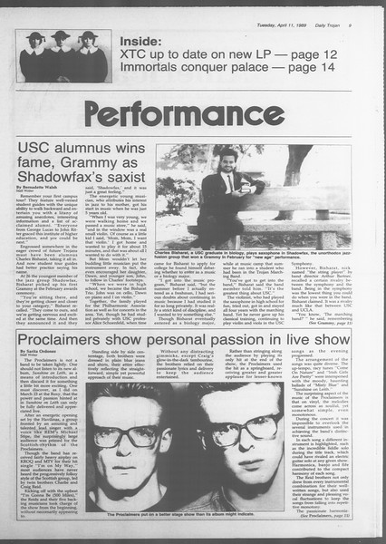 Daily Trojan, Vol. 108, No. 55, April 11, 1989