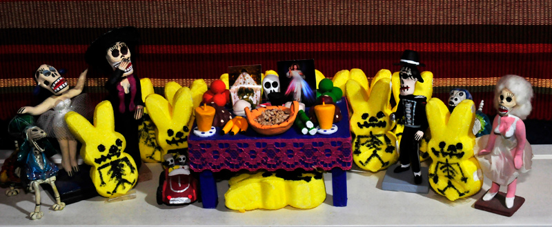 . Day of the Dead Peeps, Sheila Mitchell, My age is legal and old enough to know better.