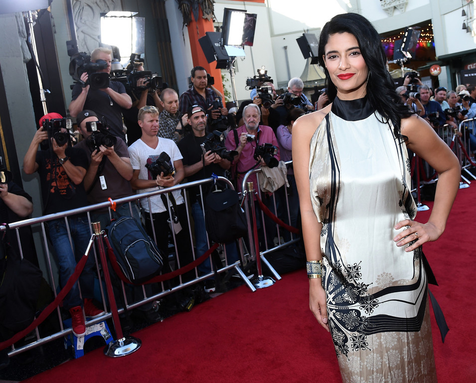 """. Actress Jessica Clark attends Premiere Of HBO\'s \""""True Blood\"""" Season 7 And Final Season at TCL Chinese Theatre on June 17, 2014 in Hollywood, California.  (Photo by Michael Buckner/Getty Images)"""