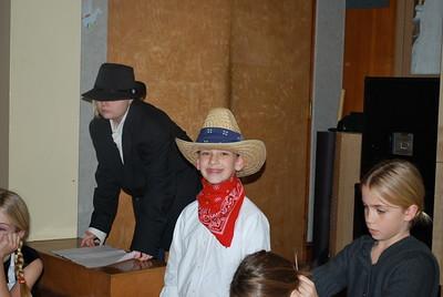 4th Grade play rehearsal