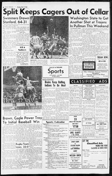 Daily Trojan, Vol. 55, No. 63, February 17, 1964