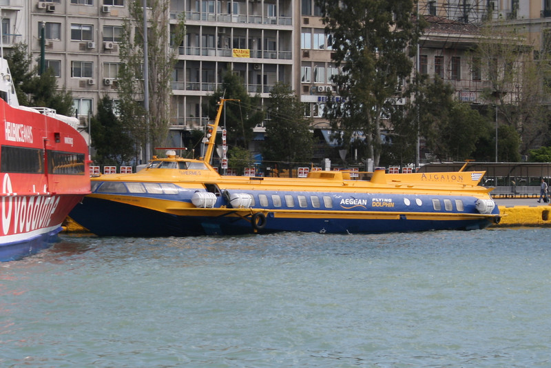 2008 - Hydrofoil FLYING DOLPHIN HERMES moored in Piraeus.