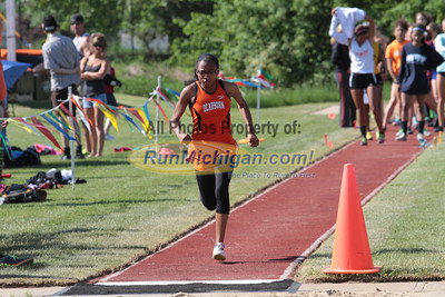 D1 Girls' Long Jump - 2014 MHSAA LP T&F Finals