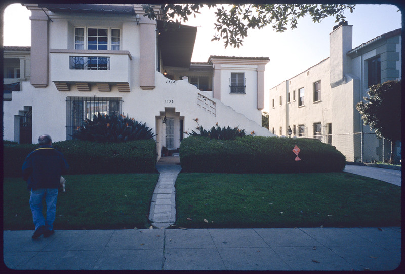 Dodger Stadium, tree trimmers on Gale Drive, multi-dwelling units at Hayworth Avenue around Whitworth Drive, Los Angeles and Beverly Hills, 2005