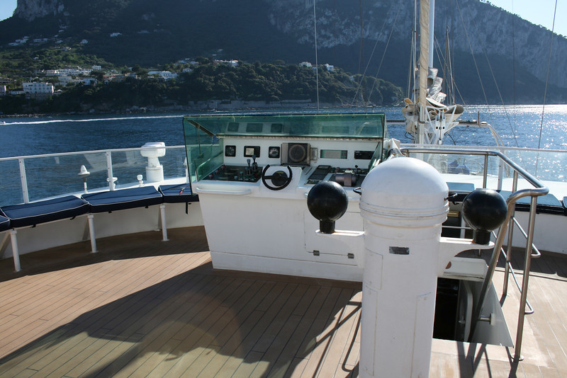 2011 - On board M/S LE PONANT : sun deck commands.