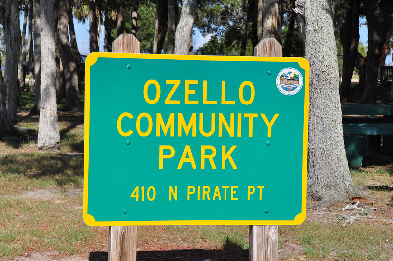 Ozello is a small fishing community set on the western coast of Florida just south of Crystal River. After driving through miles of low salt grass marshes we reached Pirate's Cove at the end of the road which was a boat ramp in the Community Park.  And there we were confronted with a surprising view of the enormous Progress Energy Nuclear Power plant just to the north providing a surreal landscape.