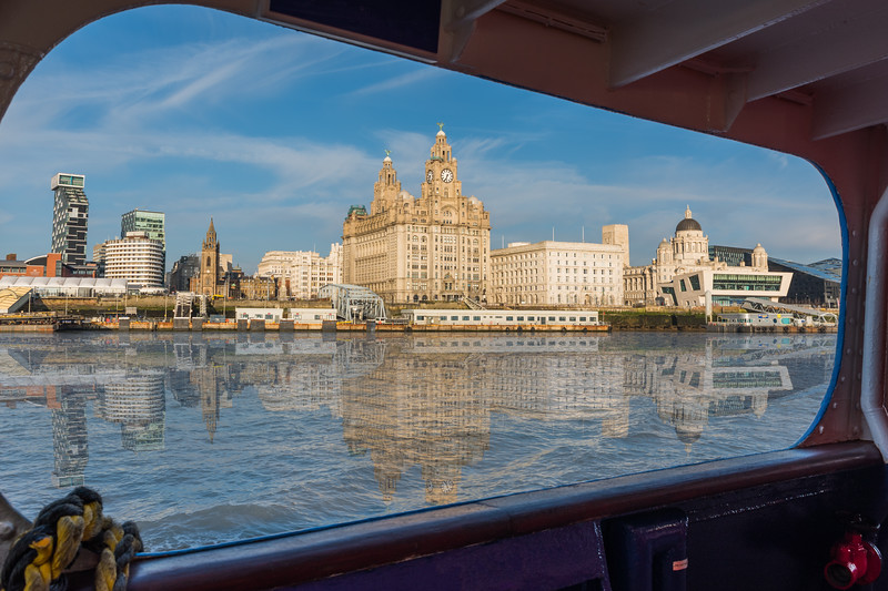 View of Liverpool Waterfront from the Mersey Ferry