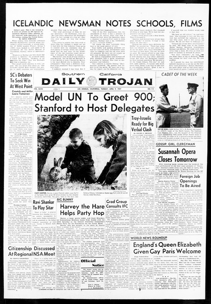 Daily Trojan, Vol. 48, No. 111, April 09, 1957