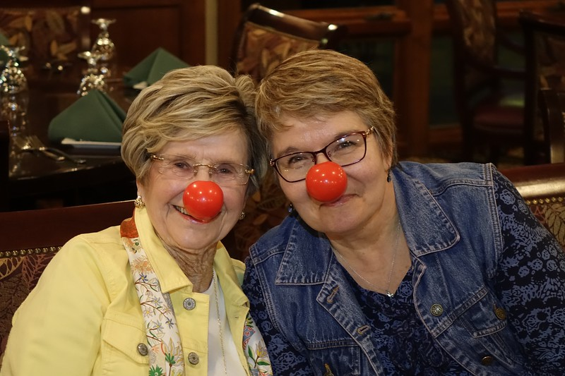 ZeZe and Madonna, showing off their lovely red noses. ;-)