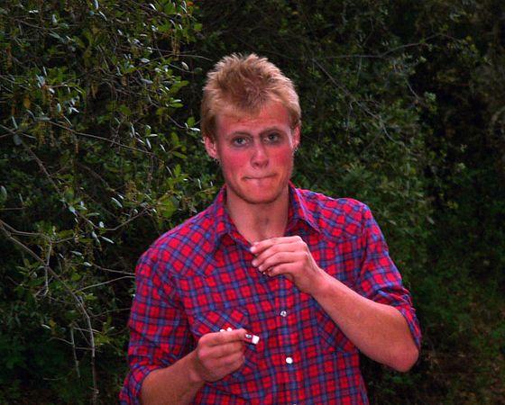 "Matt - ""do I have raccoon eyes?, I really hate it when my mascara runs.  ""do I have racccoon eyes??  (you'll get this later....)"
