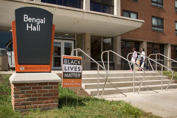 10/1/20 Black Lives Matter Signs on Campus