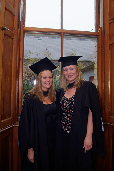 Sarah Murphy, Rioch St. Kilkenny and Kate Fullam, Rathangan, Co. Kildare,who both graduated with Bachelor of Business (Hons) at Waterford Institute of Technology.  (pic-photozone)