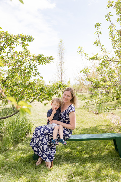 Alexis and T at the Orchard 2020