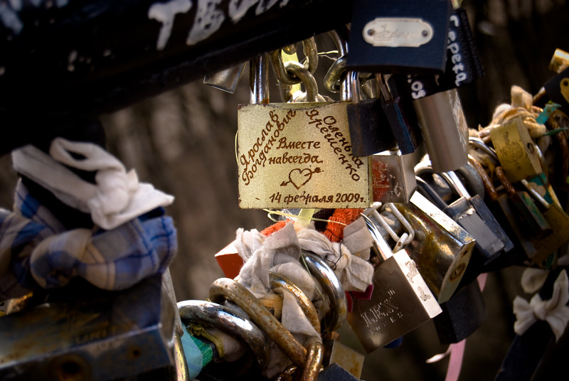 Love Lock on Bridge of Lovers