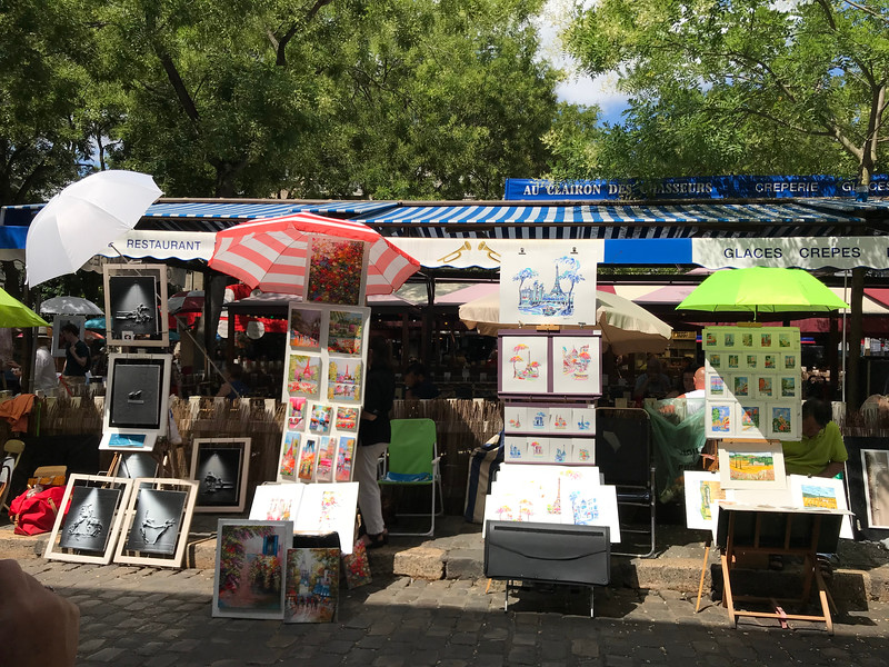 Art in the square in Montmarte