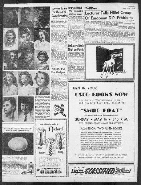 Daily Trojan, Vol. 39, No. 135, May 07, 1948