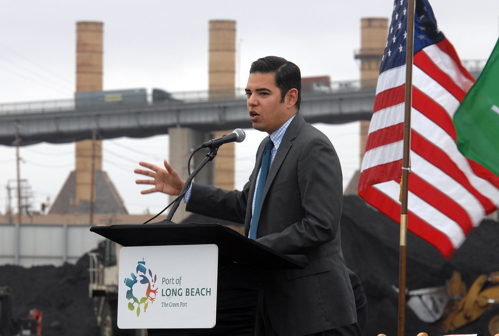 . 4/30/13 -  Longtime scrap metal exporter and Port of Long Beach tenant SA Recycling held a reception to celebrate its expansion of business to include bulk shipments of iron ore overseas. Vice mayor Robert Garcia thanked the company for its contributions to the port and community. These shipments are the first-ever iron ore to be exported from the Port of Long Beach. Photo by Brittany Murray / staff photographer
