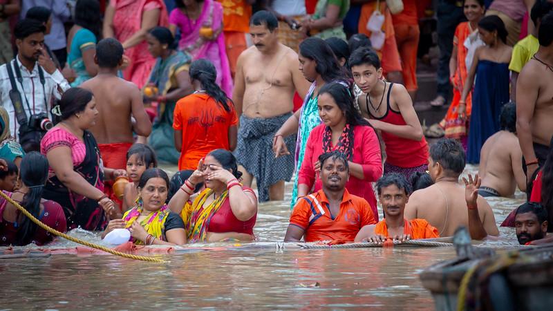 Communal Bathing, Ganges, Varanasi
