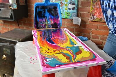 Live Acrylic Paint Pour