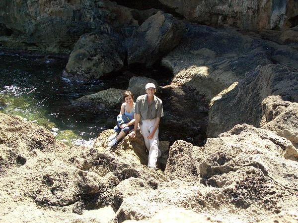 At Cova Tallada with Paquita