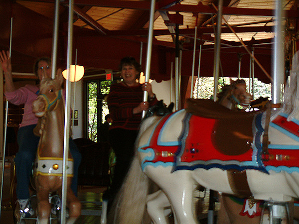 Sandwich - Mom & Viviane riding the carousel at the Plantation.jpg