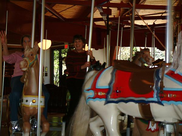 Sandwich - Mom & Viviane riding the carousel at the Plantation.jpg