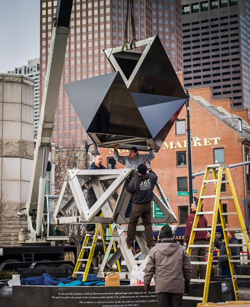 2014-03 | Dodecahedron Abstract Sculpture Installation