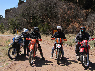 Jemez Mtns. - ADV Dome Rd.-Hwy. 4-Barley Can.-Hwy. 126-Cuba-San Miguel-Bales Can.-FR 376 DS Ride  4-21-13