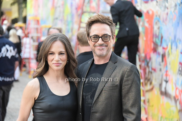 Robert Downey Jr. and wife Susan Levin attend the Watermill Center gala in Water Mill on 7-29-17. all photos by Rob Rich/SocietyAllure.com ©2017 robrich101@gmail.com 516-676-3939