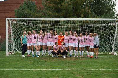 10/25/17: Girls' JV Soccer wear Pink