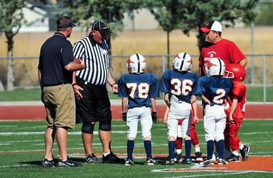 2010-09-25 3:30 WFFL Jr Mite, Bear River Red @ MC Orange, MC  Stadium