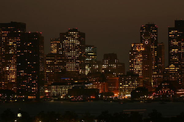 Boston Skyline, by Night