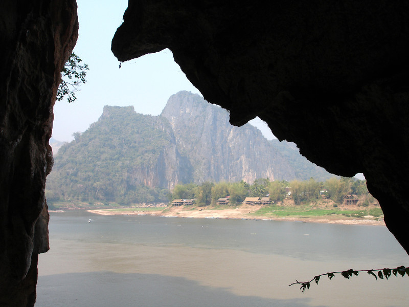 view across the Mekong from Pak Ou cave, Laos