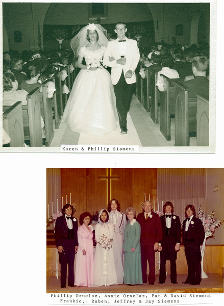 Weddings: Phil and Karen; David and Pat