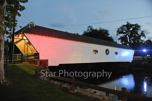 Covered Bridge Decor for July 4th 7-2-2013